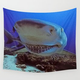 Snooty Shark Portrait Wall Tapestry