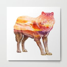 Sunet Wolf Metal Print