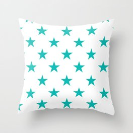 Stars (Eggshell Blue/White) Throw Pillow