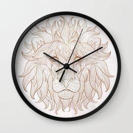 Ethnic Lion Wall Clock