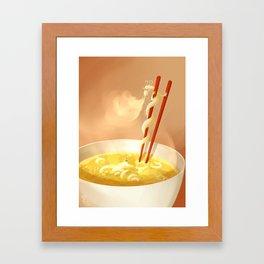Noodle dragon Framed Art Print