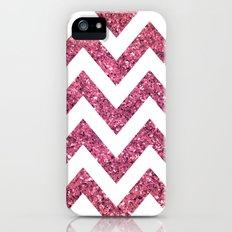 PINK GLITTER CHEVRON  Slim Case iPhone (5, 5s)