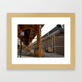L Alley Framed Art Print