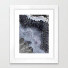 Winter Agate Framed Art Print