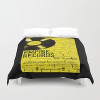 records Duvet Covers featuring Empire Records by Pixie Riot