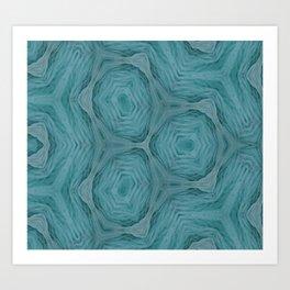 Jamaica Blue Swirls Pattern Art Print