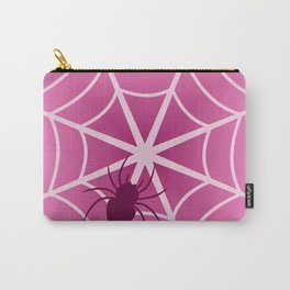 Spider web in pink Carry-All Pouch