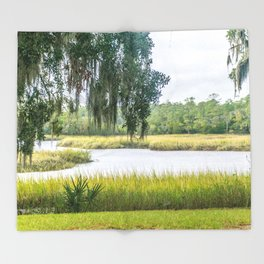 By the Bayou Throw Blanket