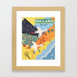 Holland by air Framed Art Print