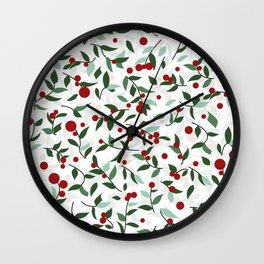 Berry Red Wall Clock