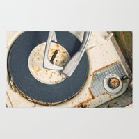 record Area & Throw Rugs featuring Record Player by Shaun Lowe