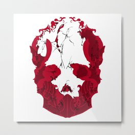 髑髏タレ Metal Print