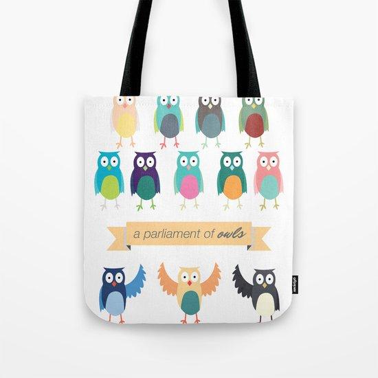A Parliament of Owls Tote Bag