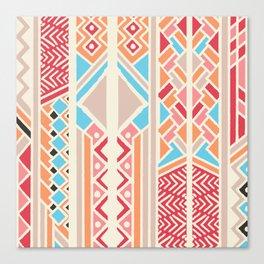 Tribal ethnic geometric pattern 033 Canvas Print