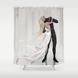 So long as the music plays Shower Curtain