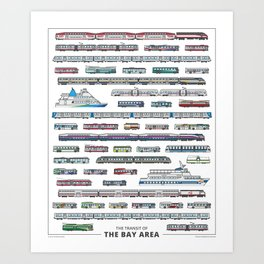 The Transit of the Bay Area Art Print