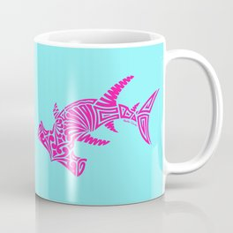 Nancy's Hot Pink Tribal Hammerhead Shark Coffee Mug