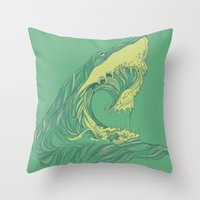 huebucket Throw Pillows featuring Escape by Huebucket