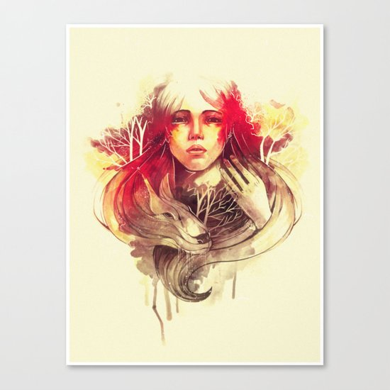 Purity In Red Canvas Print