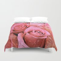 roses Duvet Covers featuring Roses  by Saundra Myles