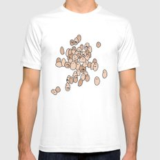 Eggs Mens Fitted Tee MEDIUM White