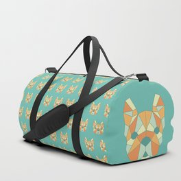 Geo Frenchie - Teal & Orange Duffle Bag
