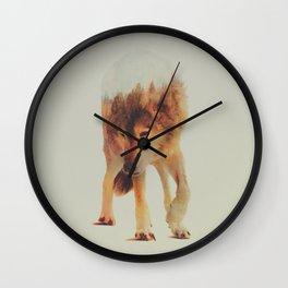 Norwegian Woods: The Grey Wolf Wall Clock