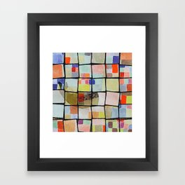 whale in reassembled color squares Framed Art Print