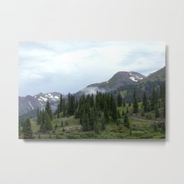 Road to Black Bear Pass, elevation 12,840 feet Metal Print