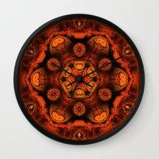 Burning jellyfish kaleidoscope Wall Clock