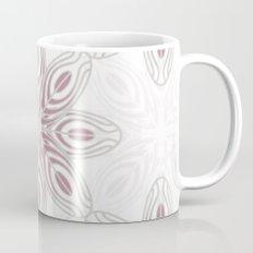 Feathers, Geometric Pattern in Mauve and Grey Coffee Mug