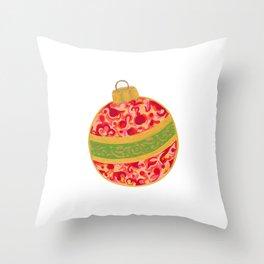 Decorative Christmas Tree Ornament Throw Pillow