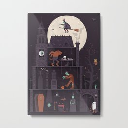 Haunted House at Halloween  Metal Print