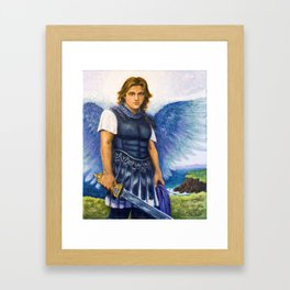 Saint Michael the Archangel Michael Framed Art Print