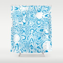 Blue organic abstract Shower Curtain