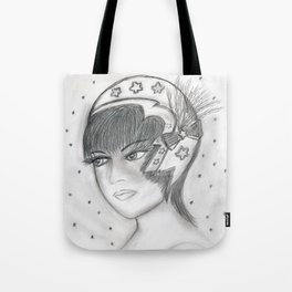 Starry Flapper in Black and White Tote Bag