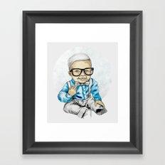 Naughty Boy by carographic Framed Art Print