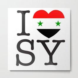 I Love Syrian Arab Republic Metal Print