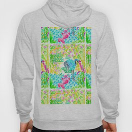 Asian Bamboo Garden in Sunset Watercolor Hoody
