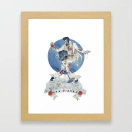 Zombie bop-a-lula Framed Art Print