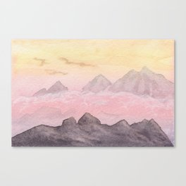 Pink Valley Canvas Print