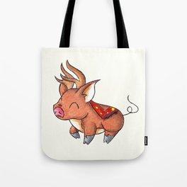 Reindeer Piggy Tote Bag