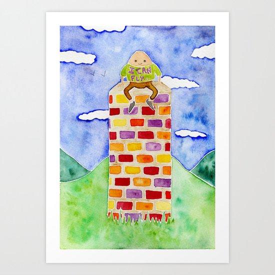 Humpty Dumpty - Before The Fall Art Print