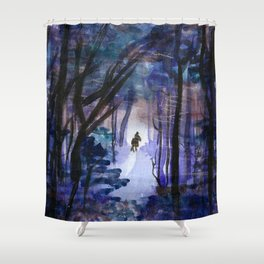 Rider in the Night Shower Curtain