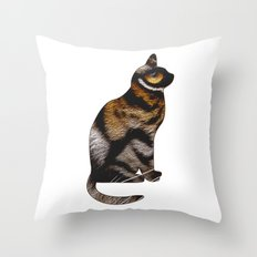 THE TIGER WITHIN Throw Pillow
