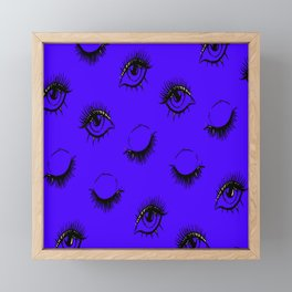 Glamour Eyebrows Pattern Eye Leash Framed Mini Art Print
