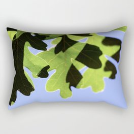 Summer Oak Leaves in the Shaddows Rectangular Pillow