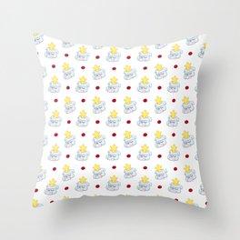 Silly Cartoon Bulldog Star Pattern Throw Pillow