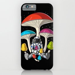Space Astronaut Psychedelic Mushrooms Festival iPhone Case