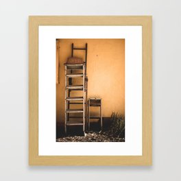 Open Sign in a Ghost Town Framed Art Print